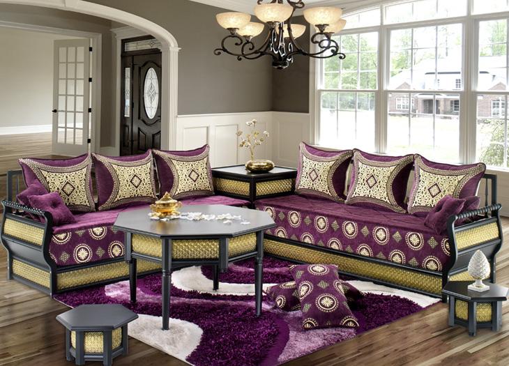 Stunning Salon Marocain Mauve Et Beige Pictures - House Design ...